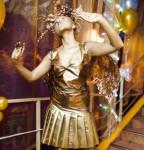 """Живая статуя """"Ангел Любви"""" в золоте"""