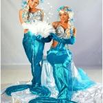 Живые статуи на праздник Русалки