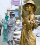 """Живые статуи на заказ в Москве недорого """"Гламурная девушка"""""""