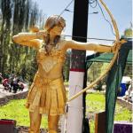 Живая статуя с луком девушка заказать на свадьбу, заказать на выставку