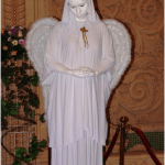 Живая статуя на свадьбу и праздник Ангел с крыльями