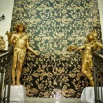 Живые статуи золотые
