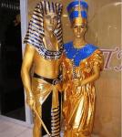 Живая статуя Тутунхамон, живая статуя Нефертити