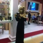 Живая статуя Дама с чайником