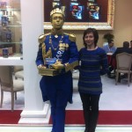 Живая скульптура Король заказать