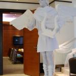живая статуя ангел, живая скульптура ангел