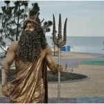 Живая статуя Нептун на праздник, на презентацию, на корпоратив. Заказать недорого