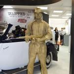 Живая статуя на выставке