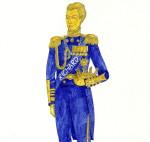 эскиз костюма короля с короной