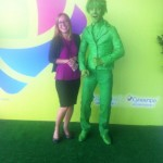 Зеленая Живая статуя